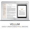 home screen of vellum