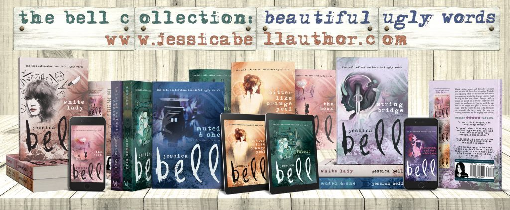 line up of her book covers in their new look