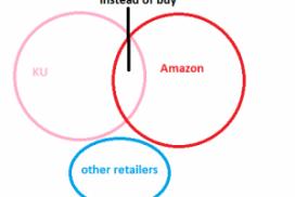 diagram of Amazon, KU and other retailers market split
