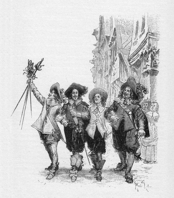 Line Drawing From Alexander Dumas' Three Musketeers