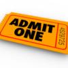 Admit One Ticket Entry
