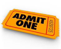 Admit One Ticket Entry