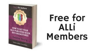 Graphic of book saying free to ALLi members