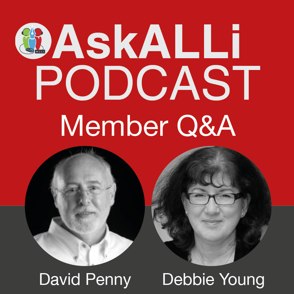 AskALLi Members' Self-Publishing Q&A W/ David Penny & Debbie Young August 2017