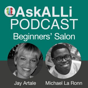 AskALLi Podcast Beginners' Salon Logo