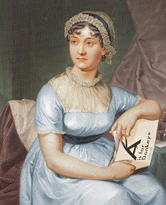 Image of Jane Austen photoshopped to include Jonathan's book