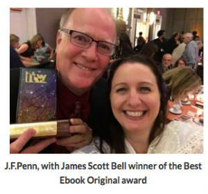 Joanna Penn and James Scot Bell at Thrillerfest