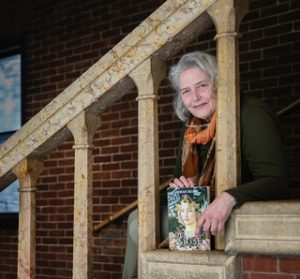 photo of Deborah on the stairs