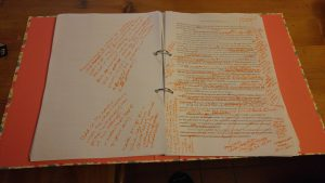 image of heavily edited manuscript