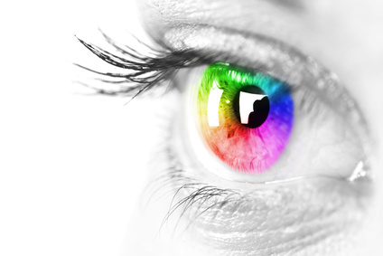 Rainbow Coloured Eye