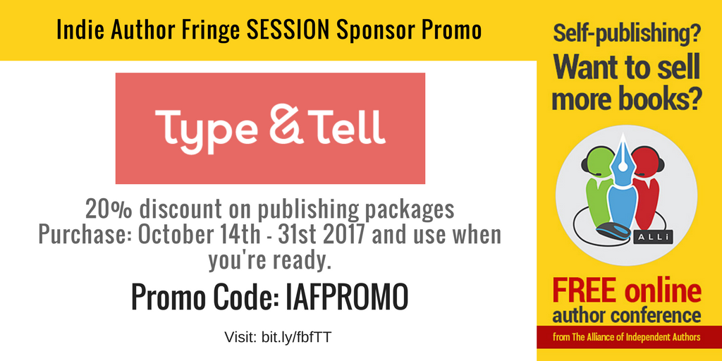 Type and Tell Indie Author Fringe Sponsors