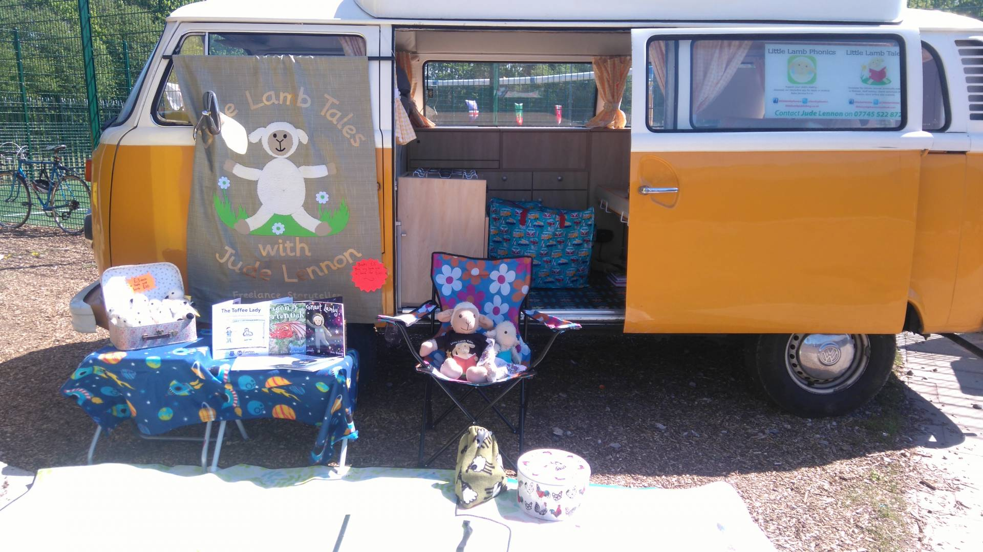 Image Of Books And Props With Camper Van