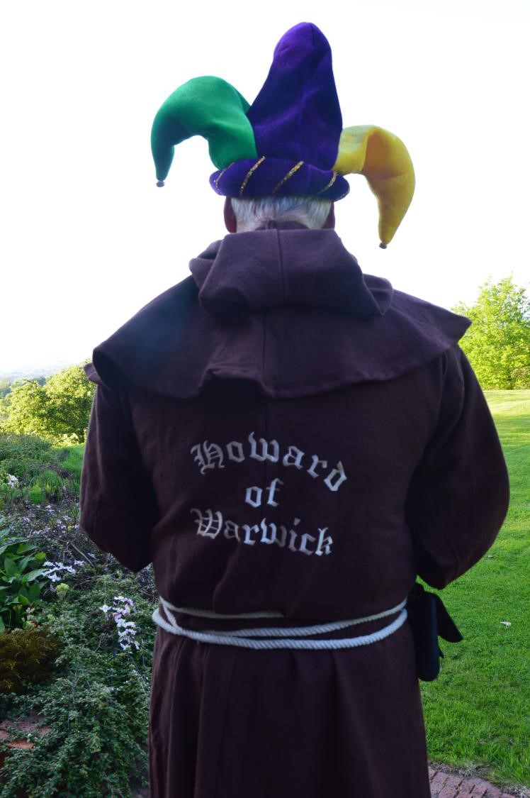 Howard Dressed As Jester, Rear View