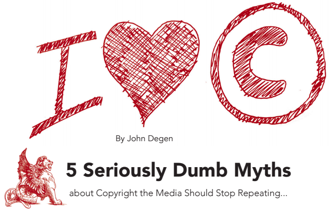 5 Seriously dumb myths about copyright