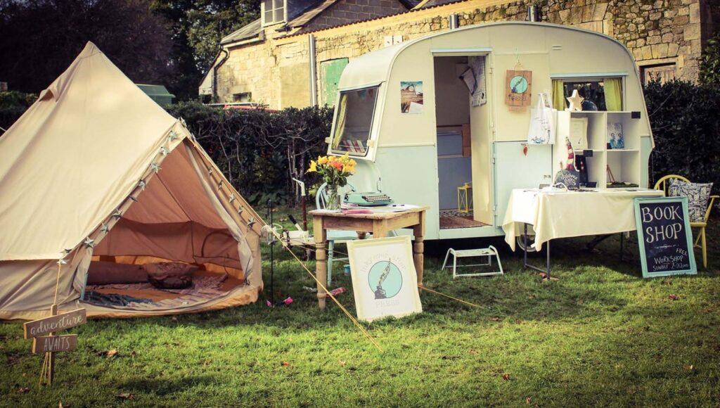 Photo of Zoe's tent and caravan
