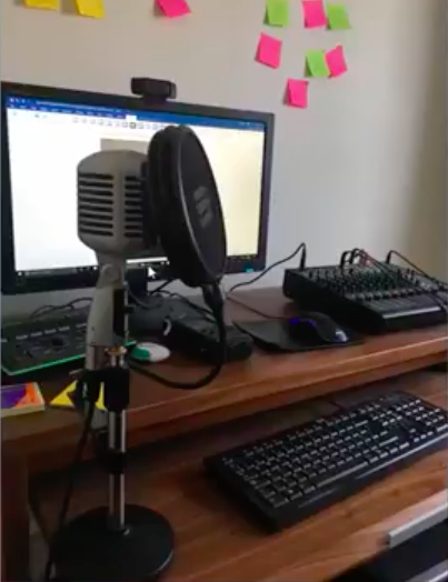 Tim's Podcasting set up