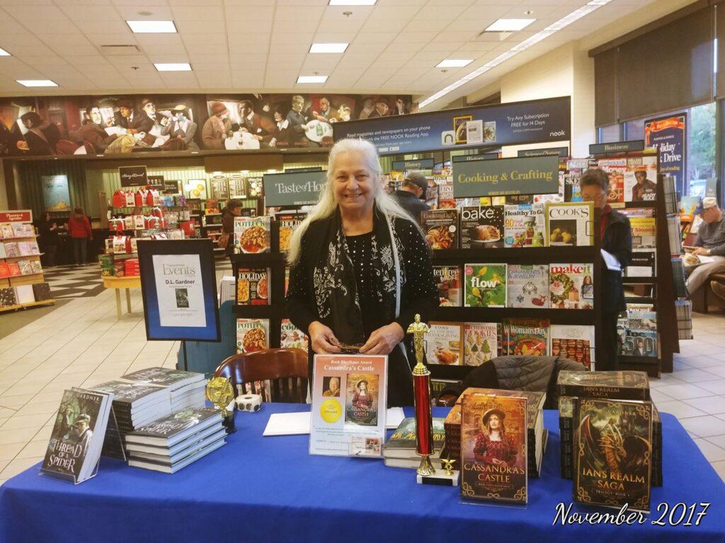 Dianne Gardner at her book signing at Barnes & Noble