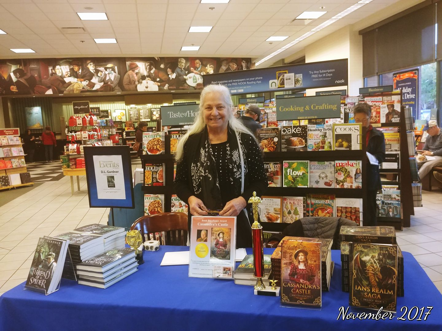 Dianne Gardner At Her Book Signing At Barnes & Noble