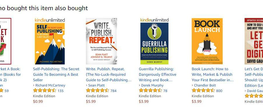 Screenshot Of Also-boughts On Amazon Page