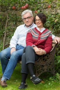 Neil and Suzy Howlett, joint authors of their first book 'Return to Kirrin' (Photo © Tim Gander)