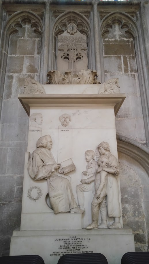 Church Tomb Showing Man Reading To Children