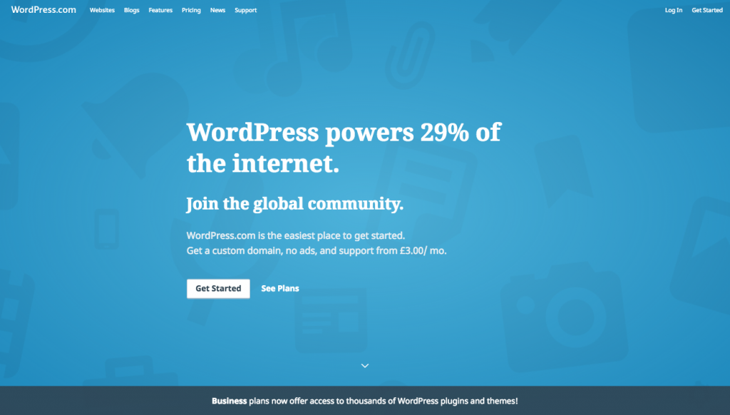 image of WordPress ad