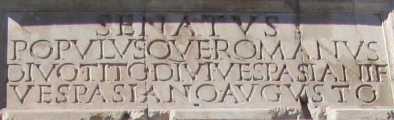 photo of Latin inscription