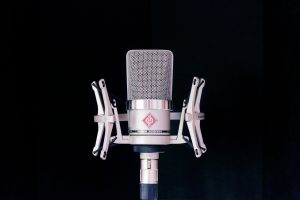 photograph of recording microphone