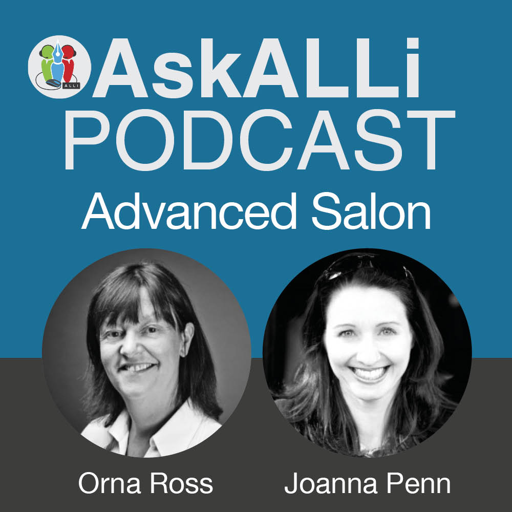 The Different Ways Indie Authors Can Make Money: March 2018 AskALLi Advanced Self-Publishing Salon With Joanna Penn And Orna Ross