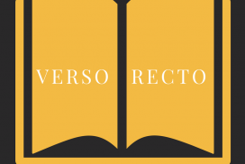 diagram of open book showing verso on left and recto on right