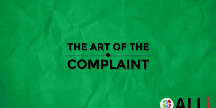 The Art Of The Complaint