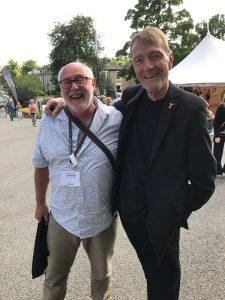 The author and Lee Child