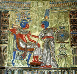 photo of Tutankhamon's throne