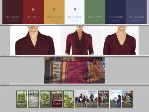 screenshot of colour chart to match book covers with author uniform