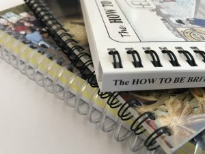image of offset litho printed books with wire or spiral binding