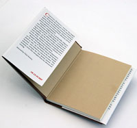 image of offset litho printed hardback and loose cover