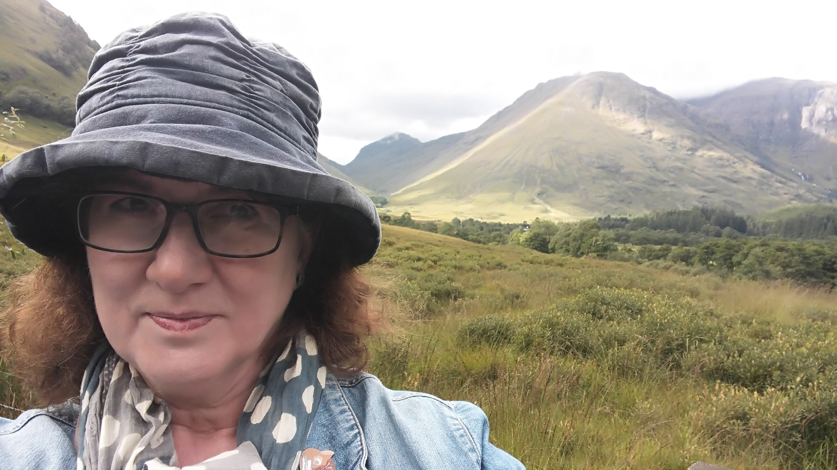 Photo Of Debbie Young At Glencoe Where She Went To Take A Break