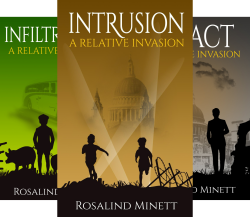 covers of Relative Invasion trilogy