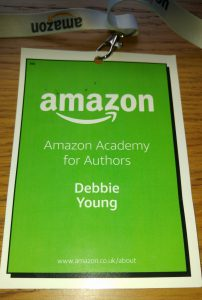 Debbie Young delegate badge for the Amazon Academy