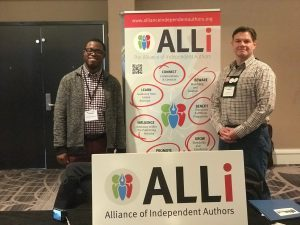 photo of Michael and Dan at the ALLi IndieLab stall