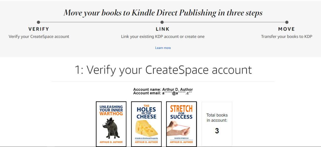 Step 1: Verify your CreateSpace account