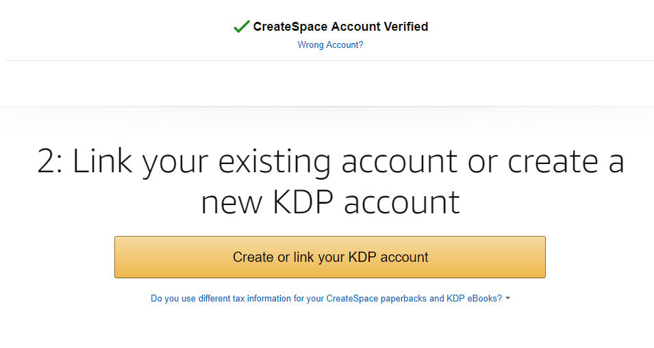Step 2: Link you KDP account