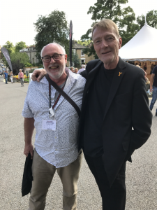 photo of David Penny with Lee Child