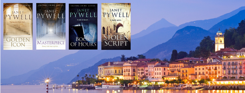 array of Janet Pwyell's self-published books