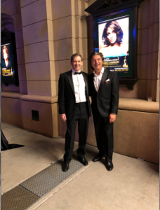 photo of Brad and Dennis outside the Voice Arts Awards ceremony