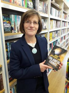 photo of Anna Sayburn Lane in bookshop