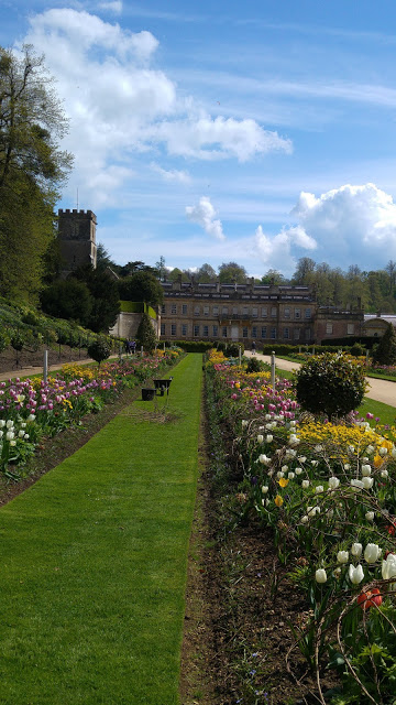 photo of house and gardens and Dyrham Park