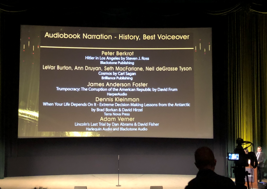 slide of the nominees in this category