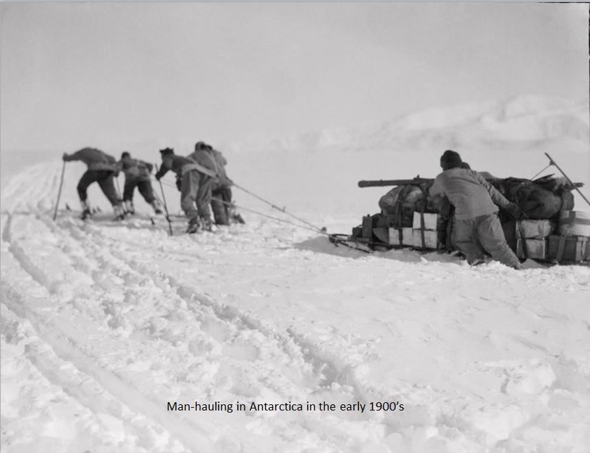 photo of Antarctic explorers