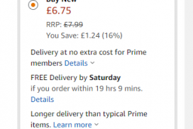 screen shot of Amazon print price cut